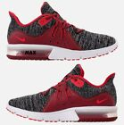NIKE AIR MAX SEQUENT 3 MEN's RUNNING BLACK - UNIVERSITY RED - WHITE AUTHENTIC SZ