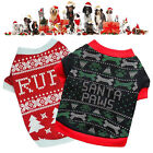 Dog Christmas Sweater Fashionable Festive Vintage Themed Thick Warm Pet Clothing