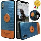 Remax crocodile Back slim case cover with magnetic plate for iphone Samsung