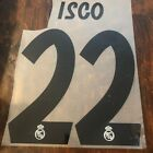 2018-19 Real Madrid home kit name sets- ISCO, Benzema, Marcelo, Bale