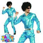 Adult 1970s Disco Jumpsuit Costume Abba Mens Fancy Dress Outfit