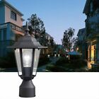 POST POLE LIGHT Outdoor Garden Patio Driveway Yard Lantern Lamp Fixture NEW MX