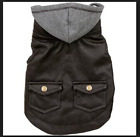 Wag-a-Tude Hooded Brown Leather Vest for Dogs