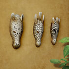 Animal Wall Hanging Mask Hand Resin Face Decor Craft Home Art Decorative Crafted