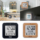24H LCD Digital Alarm Clock Desk Time Calender Date Thermometer Temp Display
