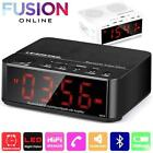 Bluetooth alarm clock speaker with hub led for Cell Phone mp3 Black White FV