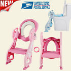 Kids Potty Training Seat with Step Stool Ladder Toilet Chair for Child...