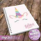 WEIGHT WATCHERS COMPATIBLE DIARY - Believe Unicorn (W047W) 12wk notebook diet