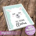 FOOD JOURNAL - No Drama Llama (G043W) 12wk tracker food diary notebook slimming