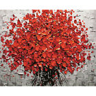 Red Flower Diy Digital Painting Acrylic Paint Abstract Wall Art Canvas Paintings
