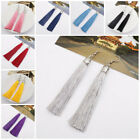1Pair Fashion Long Tassel Dangle Thread Fringe Drop Hook Earrings Women Jewelry image
