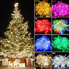 100-600 Led Fairy String Lights Christmas Clear Wire Christmas Tree Party Decor