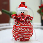 CF49 Christmas Gift Bags Ornament SantaClaus Kids Candy Holders Party Decors