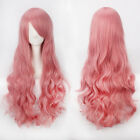 80CM Fashion Women Anime Long Curly Wavy Synthetic Hair Party Cosplay Full Wig