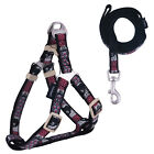 Totem Dog Harness and Leash Set Nylon Rope Puppy Harnesses Collar Adjustable