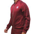 adidas originals Mens Burgundy Superstar Tracksuit Classic 3 Stripe Track Jacket