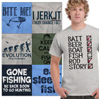 Fishing Tee Shirt Graphic Dad Joke T-Shirt For Men Fisherman Gift TShirts Tees image