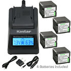 Kastar Battery LCD Fast Charger for Panasonic VBG260 HDC-TM700 HDC-TM700K Camera