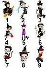 Betty Boop Halloween Small or Large Sticky White Paper Stickers Labels £1.99 GBP on eBay