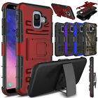 For Samsung Galaxy A6 2018 Case Hybrid Belt Kickstand Holster Rugged Full Cover