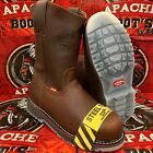 MEN'S STEEL TOE WORK BOOTS SAFETY PULL ON OIL RESISTANT GENUINE LEATHER BOTAS