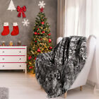 LANGRIA Faux Fur Fleece Throw Blanket Fluffy Cozy Soft Warm Blanket For Winter image