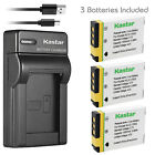 Kastar Battery Slim Charger for GE GB-40 & GE E1050TW GE E1055 GE E1235 Camera