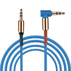 3.5mm Male to Male Car Auxiliary Aux Cord Right Angle Audio Cable For Phone PC