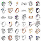 Women 925 Sterling Silver Crystal Cz Rings For Women & Girl Wedding & Party Ring