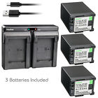 Kastar Battery Dual Charger for Canon BP-820 BP-828 & Canon XF400 Video Camera