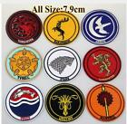 "Внешний вид - 3"" Game of Thrones logo Embroidered Iron On/ Sew On Patch"