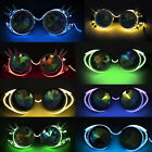 Vintage LED Steampunk Goggles Punk Biker Gothic Rave Cosplay Vogue Party Glasses