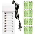 Lot 700mAh AA NiCd Ni-MH Rechargeable Batteries With 8 Channel Battery Charger