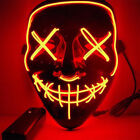 "The Purge Rave Party Light Up ""Stitches"" Scary LED Mask Costume Cosplay Xmas"