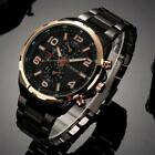 CURREN Men's Watch Stainless Steel Sport Quartz Analog Date Hours Wrist Watches image