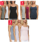 Внешний вид - Felina Ladies' Cotton Stretch 3-pack Camisole, COLOR and SIZE VARIETY, NEW