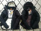 SUPERDRY MENS HOODED WINDCHEATER JACKET BLACK/WHITE FLEECED LINED BNWT COAT