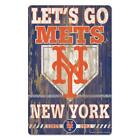 "New York Mets 11""x17"" Wood Sign Slogan Design [NEW] MLB Wall Banner Cave on Ebay"