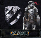 S925 Silver Goblin Slayer Helmet Armour Finger Ring Necklace Cosplay MD Sa