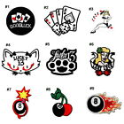 Casino Lucky 13 Poker card 8 Ball Tattoo Style DIY Clothes Jacket Iron on patch $4.64 CAD on eBay