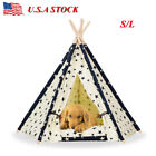 Washable Pet Cat Tent Teepee House Durable Fold Dog Bed Kennel House Kitten Mat