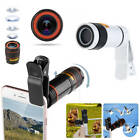 8X/12X Optical Zoom Clip on Camera Lens Phone Telescope For Universal Cell Phone
