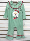 Toddler Girls Bonnie Jean 1pc Green & White Santa Outfit Size 2T - 4T