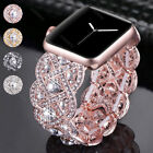 Bling Crystal Diamonds Bracelet Band Wrist Watch Strap For Apple Watch 38mm 42mm image