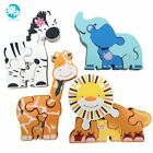 Logwood Baby Wooden toys 3d metal Puzzle Wooden Animal Puzzle 2-4 years Baby