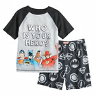 Justice League 'Who Is Your Hero' 2 Piece Pajama Sleep Set- Size 10 or 12 Boys