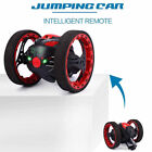 RC Bounce Car Jumping Toy Remote Control Spin Rotate LED Light 2.4GHz