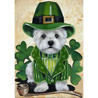 Welcome St Patricks Day dog Garden Flag Double sided House Decor Yard Banner