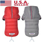 USA Pet Dog Cotton Winter Warm Padded Hooded Coat Puppy Jacket Sweater Apparel