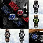 Outdoor Survival Watch Paracord Compass Wrist Watch Men's Climbing Sport Watches image